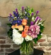 Emberglow Bouquet Vased Arrangement