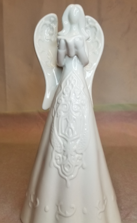 Embossed White Angel with Book Gift