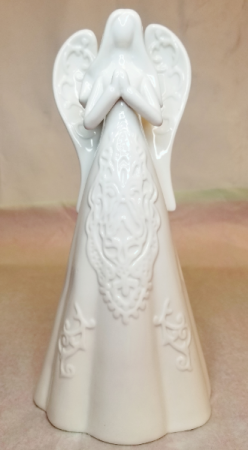Embossed White Praying Angel Gift