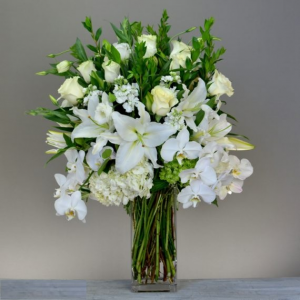 Embrace of Purity Arrangement in Croton On Hudson, NY | Cooke's Little Shoppe Of Flowers