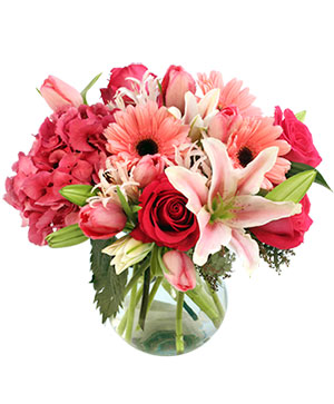 Embraceable  Pink Floral Design in San Rafael, CA | BURNS FLORIST