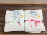 Embroidered Baby bath towels Gift items