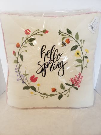 Embroidered Spring Cushion Giftware