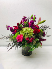 Emerald Beauty Vase Arrangement