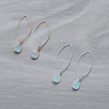 Emma Earrings Long Aqua Glee Jewerly