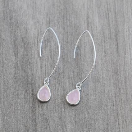 Emma Earrings Long Pink Glee Jewelry