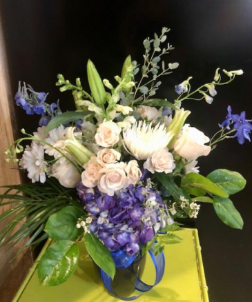 Enchanted Blue Floral Arrangement
