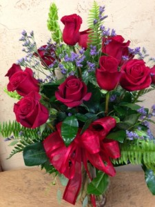 Enchanted Style Roses   1 Dz Red Roses Luxury Bouquet