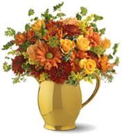 Enchanted Floral Pitcher Ceramic Gold custard Jug