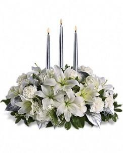 Enchanted Florist Silver Elegance Bouquet Keepsake Container