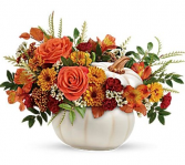 Enchanted Harvest Pumpkin Hand-glazed ceramic pot
