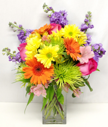 Enchanted Rainbow Flower Arrangement