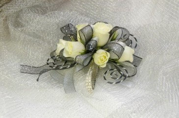 Enchanted Rose Corsage with added Deco Wire  With Fashion Bracelete $58.90