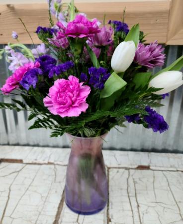 Enchanted Vibe Vase Springtime Floral in Vase