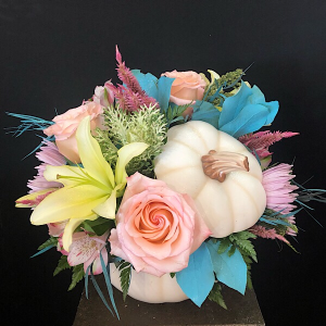 Enchanted  White ceramic pumpkin in Chesterfield, MO | ZENGEL FLOWERS AND GIFTS