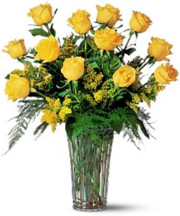 """Enchanted Yellow Roses"