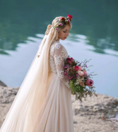 Enchanting Bride Matching Bridal Bouquet & Flower Crown