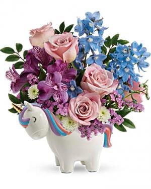 Enchanting Pastels Unicorn Bouquet in Riverside, CA | Willow Branch Florist of Riverside