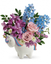 Enchanting Pastels Unicorn Flower Arrangement