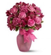 Enchanting  Pink Vase Arrangement.