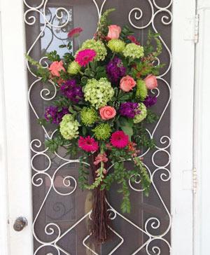 Enchanting Pinks & Purples Hanging Arrangement in Ozone Park, NY | Heavenly Florist