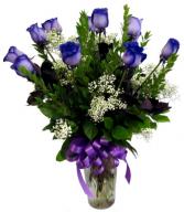 Enchanting Roses One Dozen Purple Roses