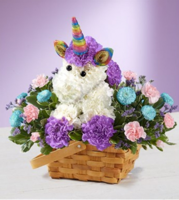 Enchanting Unicorn Floral Arrangement