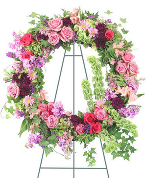 Ever Enchanting Standing Wreath in Nevada, IA | Flower Bed