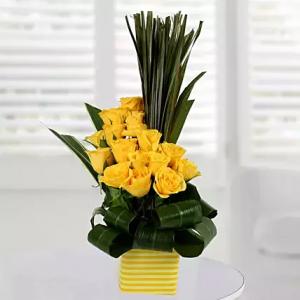 Enchanting Yellow Arrangement  in Sunrise, FL | FLORIST24HRS.COM