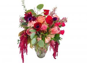 Endless Love Mixed Floral Vase Arrangement in Mantua, NJ | Lavender & Lace Florist & Gift Shop