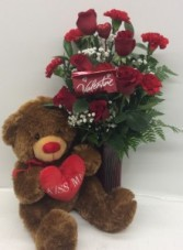 Endless Love With Bear Arrangement