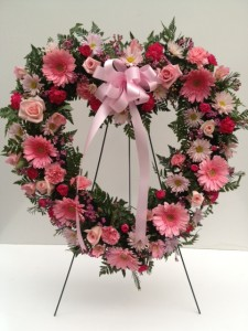 Endless Memories Open Heart  Standing Sprays in Fitchburg, MA | CAULEY'S FLORIST & GARDEN CENTER