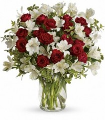 Red and White Christmas by Enchanted Florist of Cape Coral