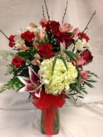 Premium Endless Romance Vase Arrangement