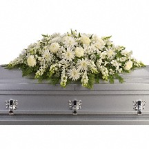 Enduring Light  Casket Spray in Whitesboro, NY | KOWALSKI FLOWERS INC.