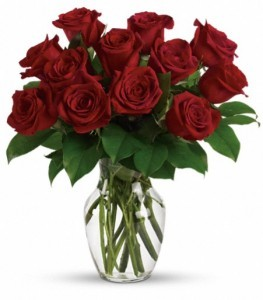 Long Stem Red Roses Sending Love with Roses