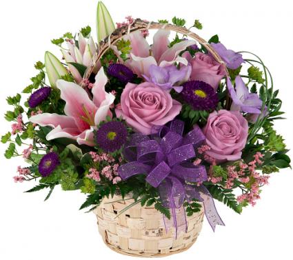 English Garden Basket Arrangement