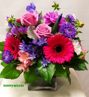 English garden  Cube arrangement  in Chatham, NJ | SUNNYWOODS FLORIST