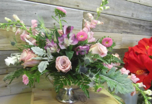 English Tea Mercury Vase in Venice, FL | ALWAYS AN OCCASION FLORIST & DECOR