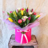ENGLISH TULIPS CUSTOM HAT BOX