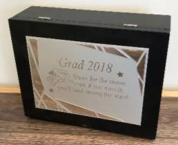 Kindergarten grad keepsake box child's name and verse etc. engraved