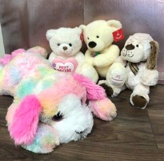 Easter hugs Assorted stuffies for all ages