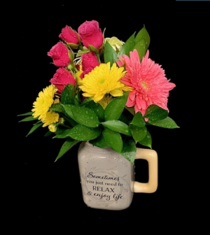 Enjoy Life Spring Floral Bouquet in Plainview, TX | Kan Del's Floral, Candles & Gifts