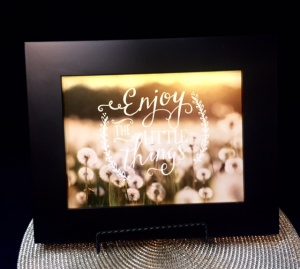 Enjoy the Little Things lighted picture  in Rensselaer, IN | JORDAN'S