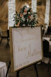 Entrance Sign Florals Wedding