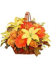 COLORES ORO Canasta Floral