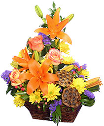 OTOÑO HERMOSO Canasta Floral