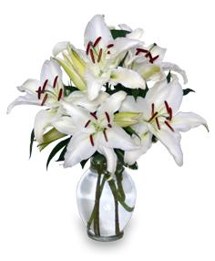 CASA BLANCA Ramo de Flores