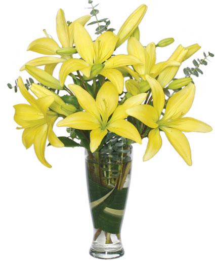 LILIES AMARILLAS HERMOSAS Arreglo Floral