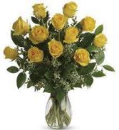 18 Yellow Rose Bqt